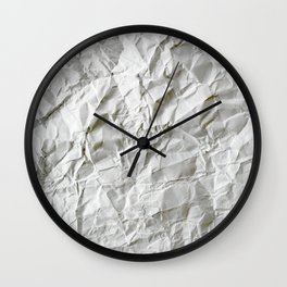 Crinkled Blues Wall Clock