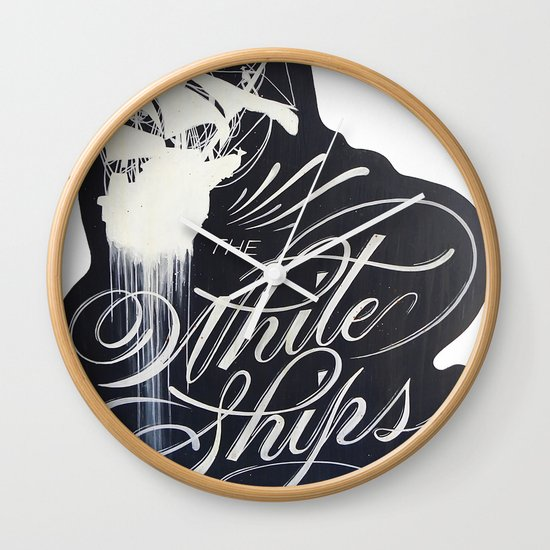 """""""The White Ships Lounge"""" Wall Clock"""
