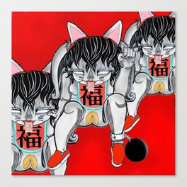 Fortune Pussy Canvas Print