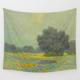 Granville Redmond (1871-1935) Landscape Flower Field Wall Tapestry