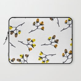 Berry Christmas Pattern, white background Laptop Sleeve