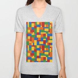 Lego bricks Unisex V-Neck