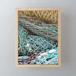 FISHING NET Framed Mini Art Print