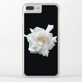 Gardenia on Black DPG150524 Clear iPhone Case