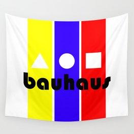 Bauhaus Geometric Type I Yellow Blue Red Wall Tapestry