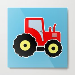 Red toy tractor Metal Print