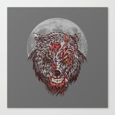 Zombie Wolf Canvas Print