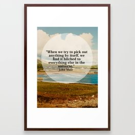 Hitched to Everything Framed Art Print