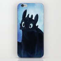 toothless iPhone & iPod Skins featuring Toothless by Liancary