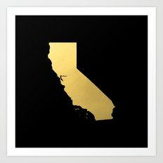 California Golden State Art Print