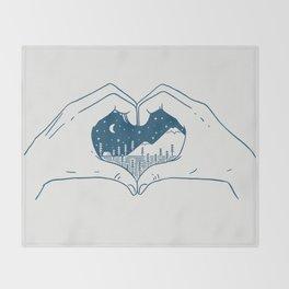 Love Nature Throw Blanket