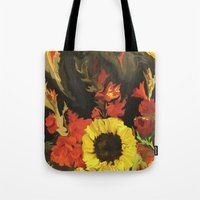 nick cave Tote Bags featuring Cave  by DesignsByMarly