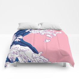 Llama Waves in Pink Comforters
