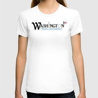 washington dc T-shirts featuring Washington DC by Henderson GDI