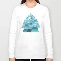 outdoor Long Sleeve T-shirts featuring Tree Hugger by littleclyde