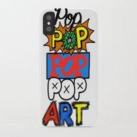pop art iPhone & iPod Cases featuring Pop, Pop, Pop, Pop Art by Raheem Nelson