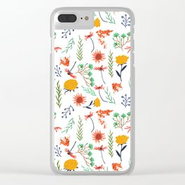Rustica #illustration #pattern Clear iPhone Case