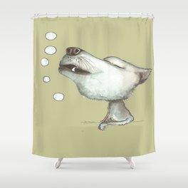 NORDIC ANIMAL  - WOLFGANG THE WOLF  / ORIGINAL DANISH DESIGN bykazandholly Shower Curtain