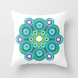 Mandala lots flower Throw Pillow