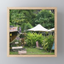 Fruit Stand in Tropical French Polynesia Framed Mini Art Print