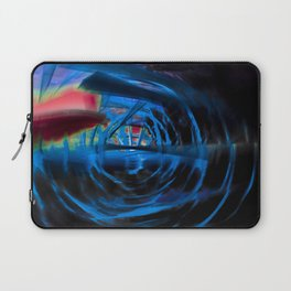 Energetic dark blue and red spiral Laptop Sleeve