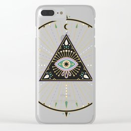 Evil Eye Mandala – Black Clear iPhone Case