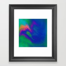 56-23-48 (Tree Rainbow Glitch) Framed Art Print