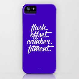 flush offset camber fitment v6 HQvector iPhone Case