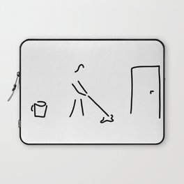 cleaning lady building cleaner Laptop Sleeve
