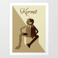 kermit Art Prints featuring Kermit by Luna Magic