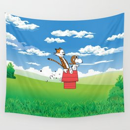 Snoopy Riding Wall Tapestry