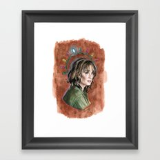 Our Lady of the Rotary Telephone Framed Art Print