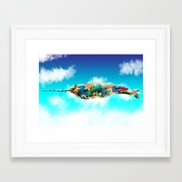 narwhal Framed Art Prints featuring Narwhal by Sircasm