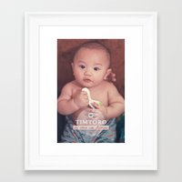 tim shumate Framed Art Prints featuring Tim by Ben Nguyen