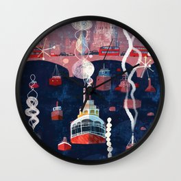 London, sound of the city Wall Clock