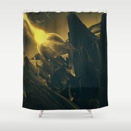 BLACK DX GOKUWAVE M816 Shower Curtain