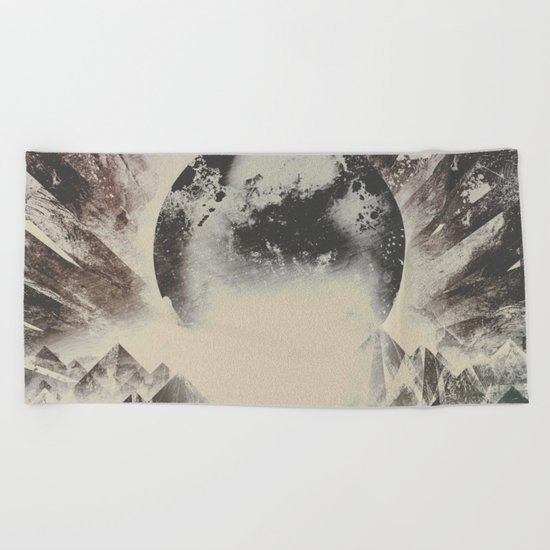 New day new mountains to climb Beach Towel
