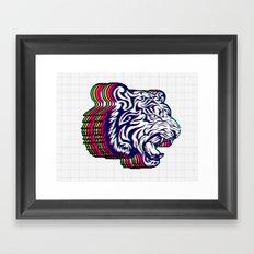3D Tiger Framed Art Print