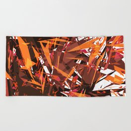 red & spiky Beach Towel