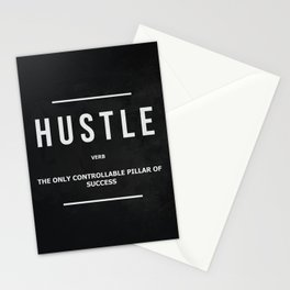 Hustle Verb Motivational Wall Art Entrepreneur Motivation Stationery Cards