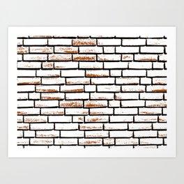 Brick wall 1 Art Print