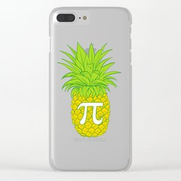 Simple As Pie...or Pi? Looking For A Pi Shirt? Here's a Mathematics T-shirt Saying Pineapple Pi Pie Clear iPhone Case