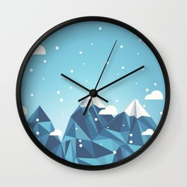 Cool Mountains Wall Clock