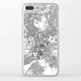 Riyadh White Map Clear iPhone Case