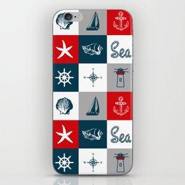 Nautical design 4 iPhone Skin