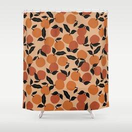 Seamless Citrus Pattern / Oranges Shower Curtain