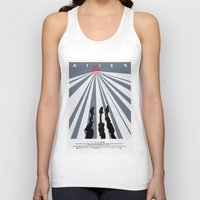 movie poster Tank Tops featuring Alien (1979) Movie Poster by desistfilm