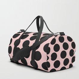 Millennial Pink Brown Dots Duffle Bag