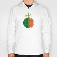 fruit Hoodies featuring Fruit: Watermelon by Christopher Dina