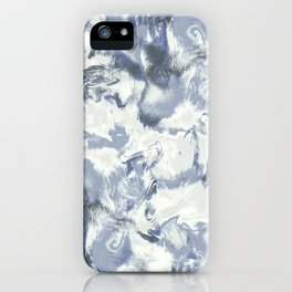 Marble Mist Blue Slate iPhone Case